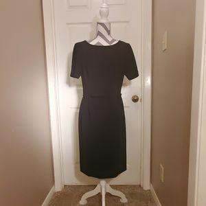 Ann Taylor Size 10 Short Sleeve Black Dress